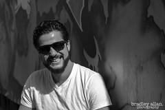 Laughter (CooT46) Tags: portrait blackandwhite bw ontario canada smile canon fun happy 50mm model hamilton plasticfantastic laugh beasley pasquale ef50mmf18ii niftyfifty canoncanada t5i