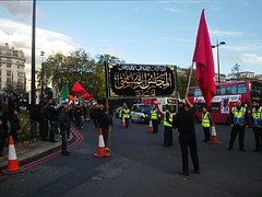 Red Flag (Kombizz) Tags: uk london justice massacre muslim islam faith religion battle tragedy shia muharram ashura hydepark thirst karbala pilgrim resistance marblearch tyranny redflag umayyad imamali martyrdom caliph yazid prophetmuhammad sufyan allahuakbar 5498 pbuh imamhussein peacebeuponhim ziaratashura ahlulbait ziyarat ziarat umayyads shimr battleofkarbala ahlalbayt muslimummah kombizz 10thofmuharram shiamuslims shiitemuslims umayyadcaliph shimribnthiljawshan husaynibnalibnablib  imamzainulabedin muawiayh umaribnsad alialasghar imamalizainulabideen saiydushshohada banuumayya thiljawshan yaabaabdillahalhussain imaamhussain ziyaratashura muharram1435 almajlisalhussaini