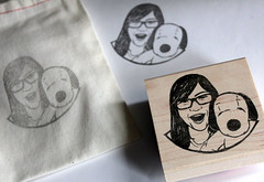 Dear Snoopy Lover <3 (DearYouFromKozue) Tags: portrait carved hand carving stamp snoopy linocut etsy custom lino