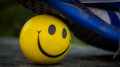 Smiling under pressure (NowhereMan1512) Tags: smile yellow ball happy shoe smiley pressure