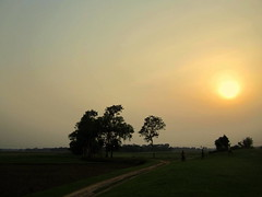 Grameen Sunset (A[A]A) Tags: sunset sky india village greens fields westbengal daspur