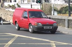 Ford Escort Van (occama) Tags: old uk red ford car cornwall 1991 van 1990 escort h297bdv
