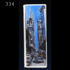 334 (anthony.papini) Tags: urban abstract painting vanishingpoint highway cityscape traffic collection series missiondistrict urbanlandscape rainynight artexplosion sanfranciscoart apaintingaday acrylicpaintingelephant 365paintings