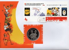 SUSKE EN WISKE (streamer020nl) Tags: stamps bob 1997 20 ecu suske wiske bobette briefmarken timbres vandersteen ecubrief eculetter eculettre