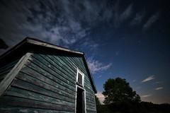 Moon and Barn No. 2 (Geoffrey Coelho Photography) Tags: longexposure blue sky moon night clouds barn dark stars landscape massachusetts newengland moonlit astrophotography moonlight berkshirecounty sandisfield barkshires