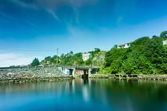 Straumsvika old bridge (Vidar Karlsen) Tags: ocean longexposure bridge summer sun water norway clouds forest europe afternoon nd fjord hordaland sotra gnd straume litlesotra straumsundet straumsvika