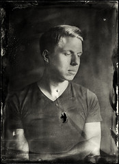 With an empty heart (anton_park) Tags: ambrotype wetplatecollodion alternativeprocess largeformat 5x7 13x18 portrait heart analog fkd industar51 45210 bw blackandwhite monochrome