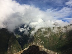 Glimpse of Sun & Fast Moving Clouds - IMG_3806 (Toby Garden) Tags: machu picchu ruins peru mysterious cloudy day