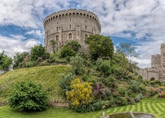 The Round Tower (James Waghorn) Tags: castle summer windsorcastle flag d7100 topazclarity water flowers fountain tree clouds sigma1750f28exdcoshsm windsor nikon medieval royal england roundtower tower stone tourist
