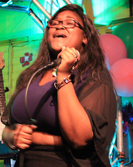 Karaoke at Cat's Meow. (Flagman00) Tags: karaoke catsmeow neworleans frenchquarter  milf gilf hotchicks hot pretty sexy women grandma mom singing stage nightlife bbw drunk horny