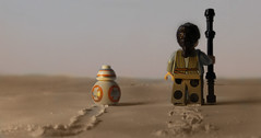 In the morning you go (hachiroku24) Tags: toy star miniature force desert lego rey wars photohop awakens bb8