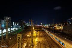 Nightlines (lichtauf35) Tags: nightlights hdr sl1 donnersbergerbrücke longtime railways efs24stm lightroom photomatix acdsee infrastruktur skyline nacht stadt lowlight lichtauf35