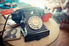 the dog and bone... (jess feldon photography) Tags: vintage cafe cornwall phone