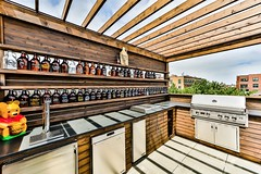 Madison4 (Chicago Roof Deck and Garden) Tags: beer growler wall pergola mancave outdoor kitchen roofdeck chicagoroofdeck rooftop designbuild chicago construction outdoorliving pooh keg dishwasher fridge cabinetry carpentry grill