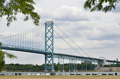 Ambassador Bridge (Steve Tracy Photos) Tags: ambassadorbridge bridgephotography detroit detroitriver internationalbridge losangelesphotographer michigan usa