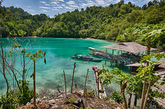 A Paradise so to speak (Collin Key) Tags: color sulawesi water bay boat lestari indonesia togianislands malenge idn lagoon green