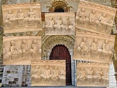 Toro (Zamora) 11 Detalles de los msicos del prtico (ferlomu) Tags: collage iglesia escultura musica toro zamora musicos romanico instrumentos ferlomu