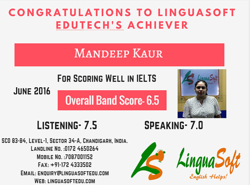 Mandeep Kaur - IELTS Band score 6.5