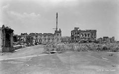 Intramuros, WWII ruins, Plaza Santo Tomas, Manila, Philippines, 1948 (J. Tewell) Tags: wwiiplazasantotomas wwiiintramuros wwiimanila wwiiphilippines wwiisantodomingochurch wwiicolegiodesantarosa