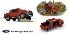 Ford Ranger P375-2015 Wildtrack Pickup (lego911) Tags: ford motor company ranger wildrack pickup utility ute p375 2015 2010s offroad 4wd 4x4 auto car moc model miniland lego lego911 ldd render cad povray lugnuts challenge 105 thegreatoutdoors great outdoors cross country foitsop