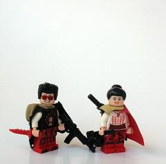 Crimson (Synthetic bug) Tags: lego apocalyptic citizen brick brickarms brickforge red