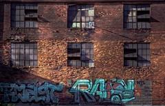 Toasted (kmac1960) Tags: graffiti bricks art building windows illustrated color