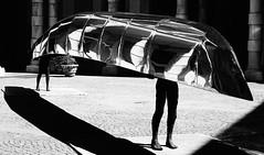 Canoa in citt (antoniogallo1960) Tags: piemonte italia biancoenero bw figure sport canoa torino riflessi