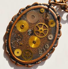 #gear (flowergirlaaa) Tags: flickrfriday gears watches cogs brass time jewellery necklace antique