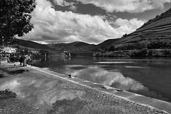 Douro 4 (gsamie) Tags: guillaumesamie gsamie canon 600d t3i portugal douro porto landscape river mountain wideangle sky clouds wine portwine grapes grapevine blackandwhite reflection