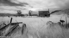 Fixer Upper. (Gary Skiff) Tags: homestead ir bw cabin farm infrared abandoned rural