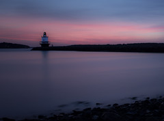Different Moment Different Sunrise!! (Doreen Bequary) Tags: portlandharbor pink maine d500 bay rockycoastline lighthouse landscape longexposure ocean sea shore dawn serene seaside