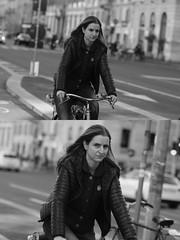 [La Mia Citt][Pedala] (Urca) Tags: milano italia 2016 bicicletta pedalare cicllista ritrattostradale portrait dittico nikondigitale mir bike bicycle biancoenero blackandwhite bn bw 881128