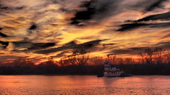 Storm Of The Century? - HSS (VarietyHour) Tags: hss slidersunday outdoor water boat sunset