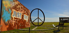 Just Give Peace A Chance (radargeek) Tags: amarillo tx texas peace sign art plasmacut metal