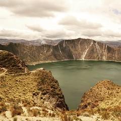 Le cratère du Quilotoa.
