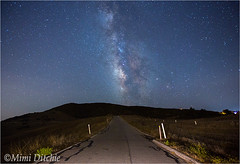Road To The Milky Way (Mimi Ditchie) Tags: milkyway perfumocanyon perfumocanyonroad astrophotography night road rocks starrynight stars
