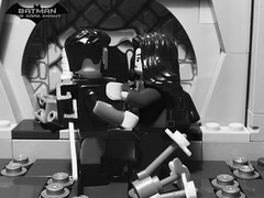 The Dark Knight  Heir to the Demon  Prologue  Part 21 (Supremedalekdunn) Tags: lego batman the dark knight volume 4 heir demon ras alghul robin red hood dick grayson nightwing jason todd tim drake bruce wayne dcsg thefilmgmr thelegoguy legosuperheroes superman justice league wonder woman green lantern indoor talia blackandwhite monochrome