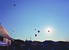 ballooninsun (addyandrn) Tags: hotairballoon festival pa 2016 mamiya m645 portra darktable gimp