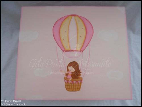 """Caixa para fraldas, toalhitas, ... """"Hot Air Ballon Voyage"""""""