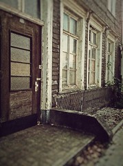 On the street (life.in.colour) Tags: street door old windows building sepia vintage fenster gebude tr attendorn altbau strase