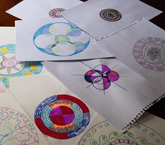 129/365  Mandalas (hyacinth50) Tags: art fun circles mandala 365 colourful meditative learing worshop cy365