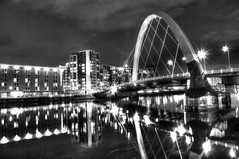 Glasgow's Squinty Bridge, Black and White (charlieinlesmahagow) Tags: city uk architecture modern spectacular scotland riverclyde fantastic ancient industrial different transformation cathedral artistic photos glasgow cities photographic historic communist changing socialist historical unions westcoast citycentre hdr futuristic cultural renewal tory oldfashioned leftwing individual modernisation photogenic modernity developing clydebuilt intransition clydeside snp modernistic gri glasgowcitycentre cityofculture greatarchitecture ibelongtoglasgow oldvalues charlieinlesmahagow clydestructures uniondominated bestclyde bestclydeside clydemonuments clydeicons clydehistory griphoto
