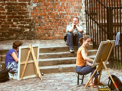 Art Students, Torun, PL (Mark Kaletka) Tags: brick art students painting drawing poland medieval torun mediaeval