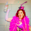 Saloon Girl Gone Bad-10 (eriknorderphotography) Tags: pink newzealand christchurch outdoors flash feathers burlesqueperformer sony70200f28g sonyalpha550