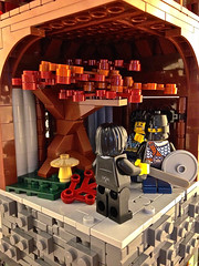 GCX - An Intriguing Proposition (aardwolf_83) Tags: building tree tower castle lego stonework keep minifig minifigure moc stoneborough bignette roawia lenfald