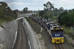 Coal train diversion (highplains68) Tags: railroad rail railway australia nsw newsouthwales aus coaltrain sydneytrains birrong ca62 ssfl 82class pottshill southernsydneyfreightline seftonparkjunction