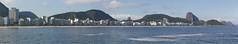 Copacabana, Rio de Janeiro, Brazil (maxunterwegs) Tags: brazil panorama praia beach brasil riodejaneiro strand cityscape stitch pano brasilien copacabana sugarloaf podeacar stitched brsil sugarloafmountain paindesucre copacabanabeach zuckerhut pandeazcar microsoftice montdupaindesucre