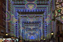 Valencia Fallas Festival Street Illumination (gerard eder) Tags: world street travel espaa valencia noche spain europa europe fiesta nacht illumination streetlife viajes spanien beleuchtung reise stadtfest nght streetfestival fallas iluminacin festbeleuchtung fiestadesanjos