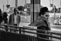 Hepburn-esque (whosoever2) Tags: uk greatbritain england woman girl station fur eyes nikon unitedkingdom july audrey gb ely cambridgeshire hepburn 2016 d7100