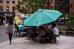 The umbrella is not only for raining. Part II (Xu@EVIL Cameras) Tags: summer berlin umbrella 35mm voss f28 exakta streetshooting piesker